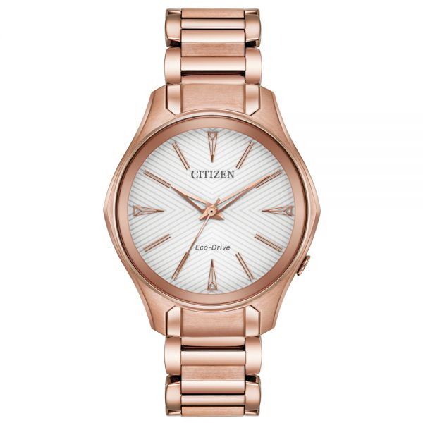 Citizen Ladies Rose Gold Tone Modena Eco-Drive Watch