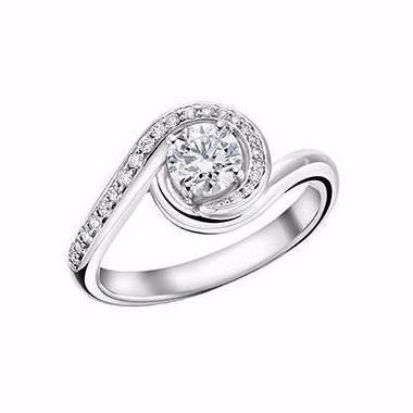 Shaun Leane Diamond & White Gold Entwined Engagement Ring
