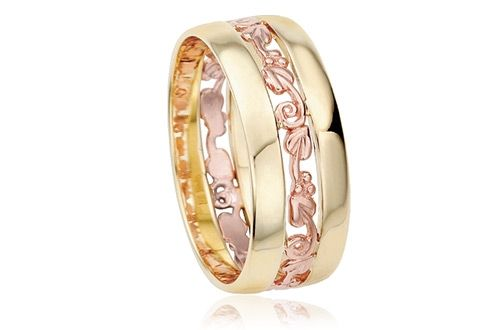Clogau Tree of Life Ring with 9ct Yellow Gold & 9ct Rose Gold