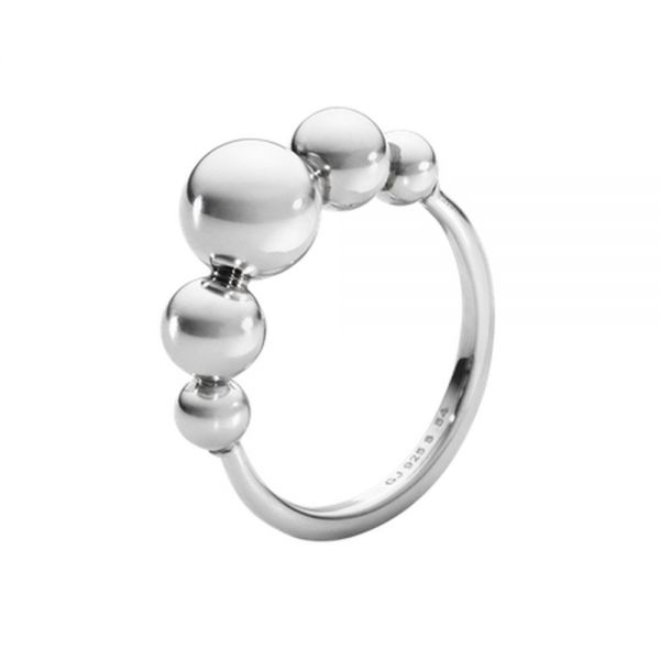 Georg Jensen Sterling Silver Moonlight Grapes Ring (3560980)