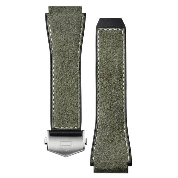 TAG Heuer Connected Strap - Green Leather & Rubber Strap