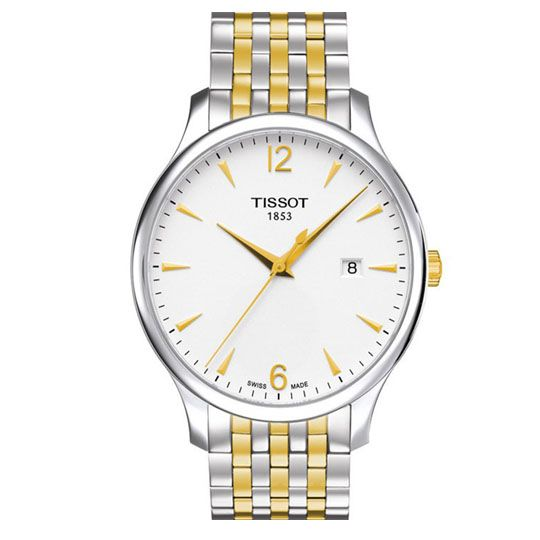 Tissot Gents Looks Good in Vintage Tradition Two Tone Gold & Silver Bracelet