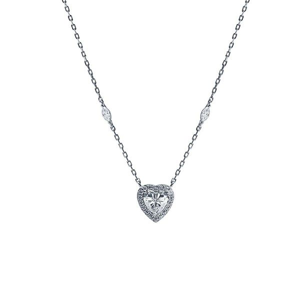 CARAT* London Sterling Silver Cora Heart Necklace
