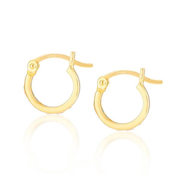 Laura Vann Iris Gold Hoop in Tanzenite Blue