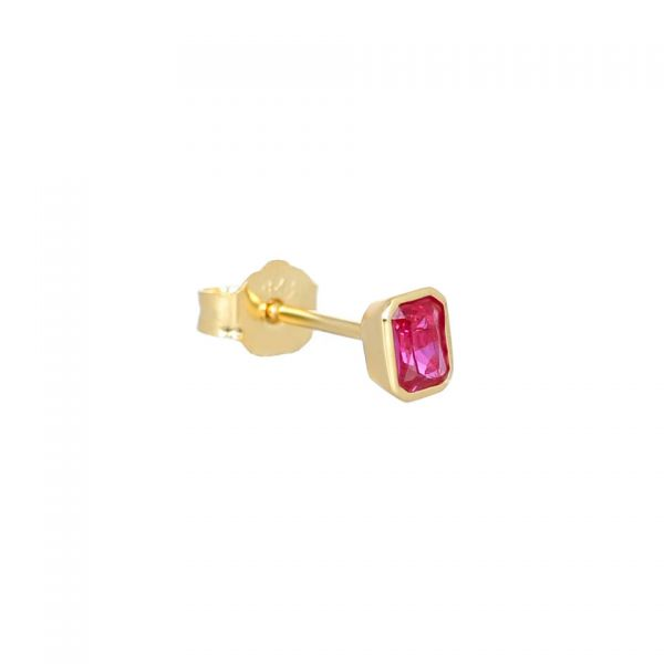 Laura Vann Isla Red Stud Earrings