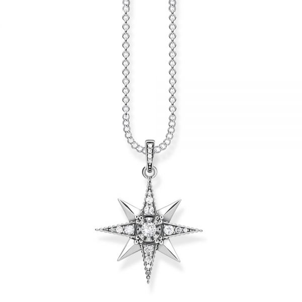 Thomas Sabo Sterling Silver & CZ Royalty Star Necklace