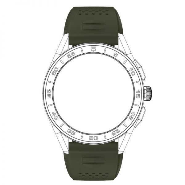 TAG Heuer Connected Strap - Khaki Rubber