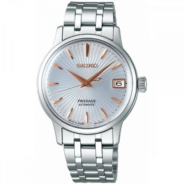 Seiko Ladies Silver Dial Presage Cocktail Automatic Watch