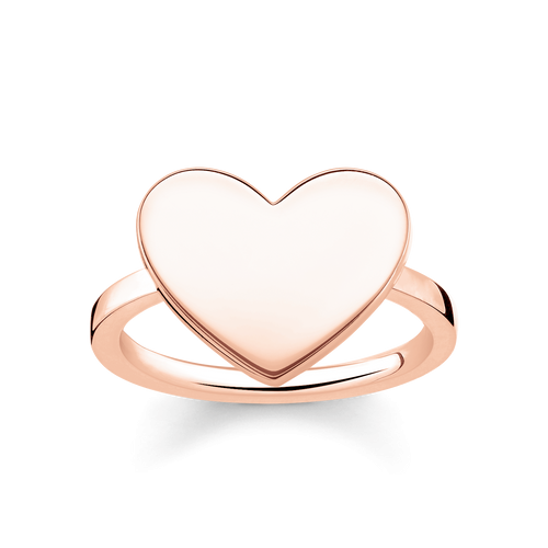 Thomas Sabo Rose Gold Plated Heart Ring - Size 54