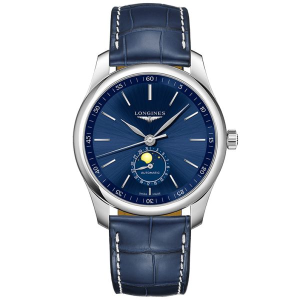 Longines Blue Dial Master Collection Moonphase Automatic Watch