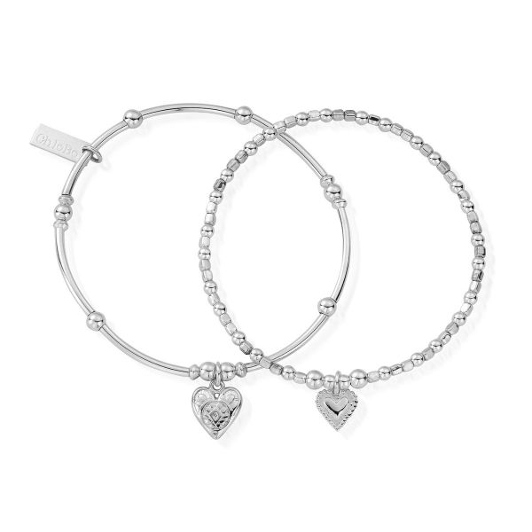 ChloBo Sterling Silver Compassion Set Of 2 Bracelets