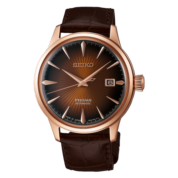 Seiko Brown Dial Presage Cocktail Automatic Watch
