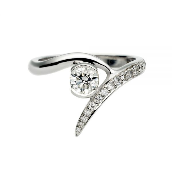 Shaun Leane 18CT White Gold Outward Interlocking Engagement Ring (SLD117ENG)