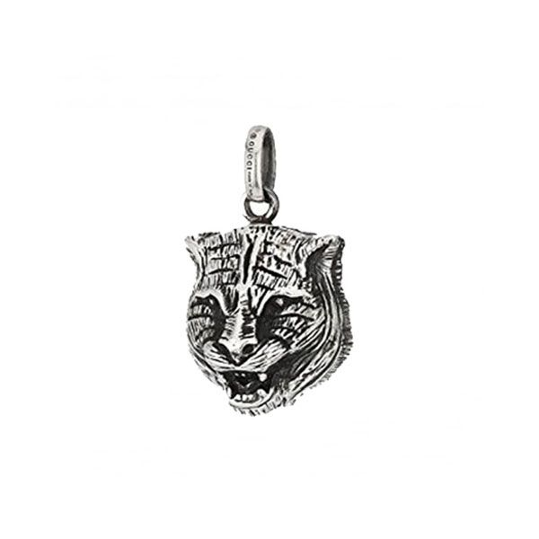 Gucci Sterling Silver Blind For Love Cat Charm