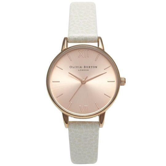 a9c6622f0d2c Olivia Burton Ladies Midi Dial Mink and Rose Gold Plated Watch ...