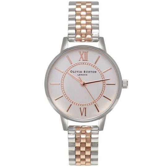 Olivia Burton Ladies Wonderland Bracelet Silver and Rose Gold Plated Mix Watch OB15WD40