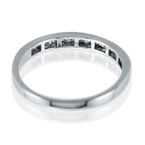 Steffans RBC Diamond Channel Set, Platinum Half Eternity Ring (0.25ct)
