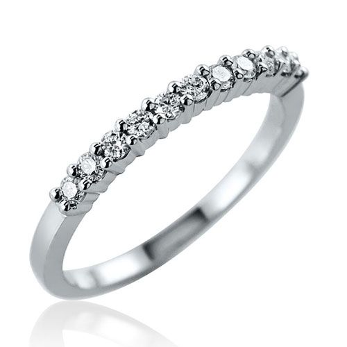 Steffans RBC Diamond Shared Claw, Platinum Half Eternity Ring (0.25ct)