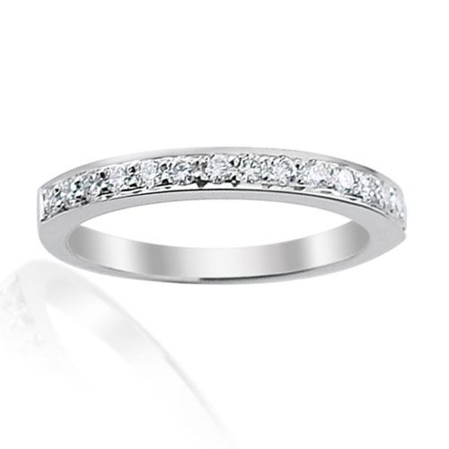 Steffans RBC Diamond Grain Set Half Platinum Eternity Ring (0.25ct)