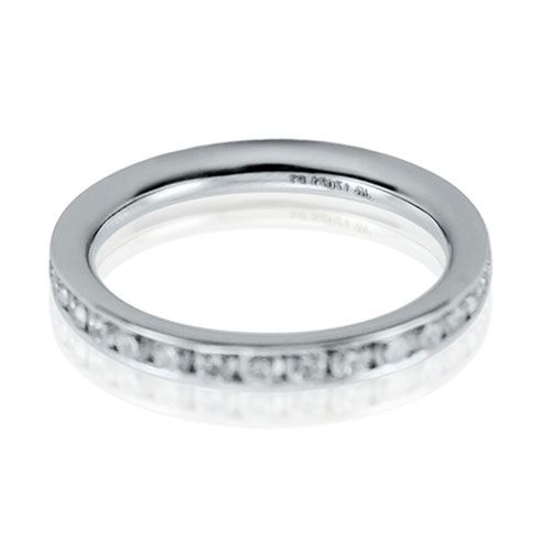 Steffans RBC Diamond Channel Set Platinum Full Eternity Ring (1.00ct)
