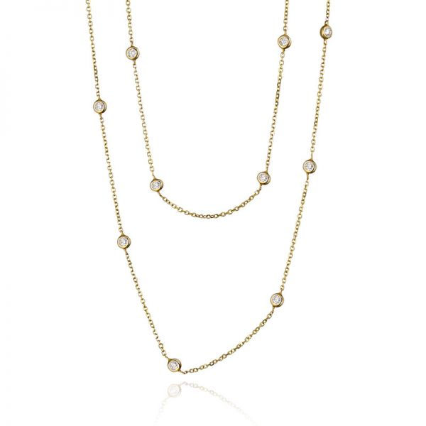 9ct Yellow Gold & Diamond (0.27ct) Wrap Necklace