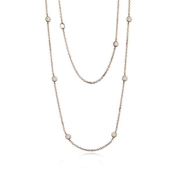 9ct Rose Gold & Diamond (0.27ct) Wrap Necklace