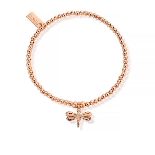 ChloBo Cuties Charm Rose Gold Plated Dragonfly Bracelet