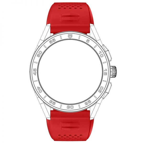 TAG Heuer Connected Strap - Red Rubber