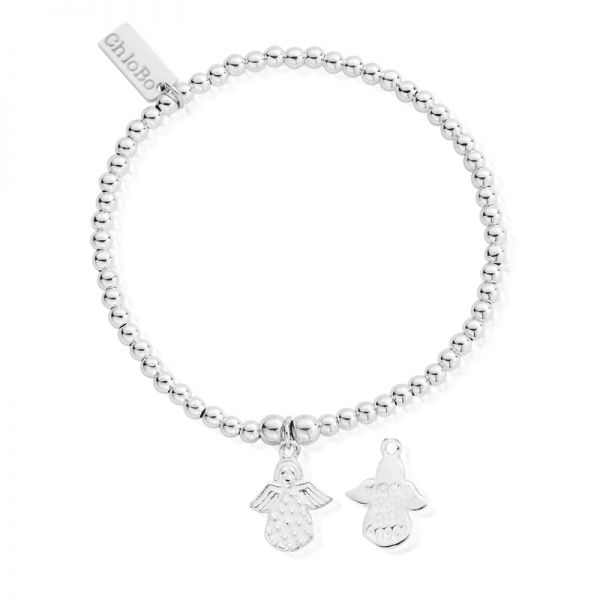 ChloBo Sterling Silver Cute Charm Made For An Angel Bracelet
