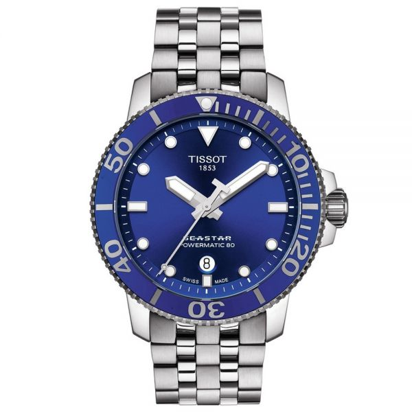 Tissot Blue Dial Seastar 1000 Powermatic 80 Watch