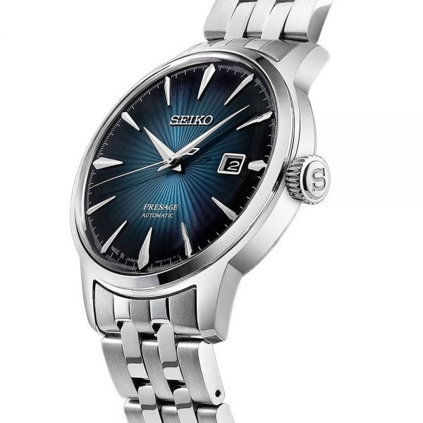 Seiko Blue Dial Presage Cocktail Automatic Watch