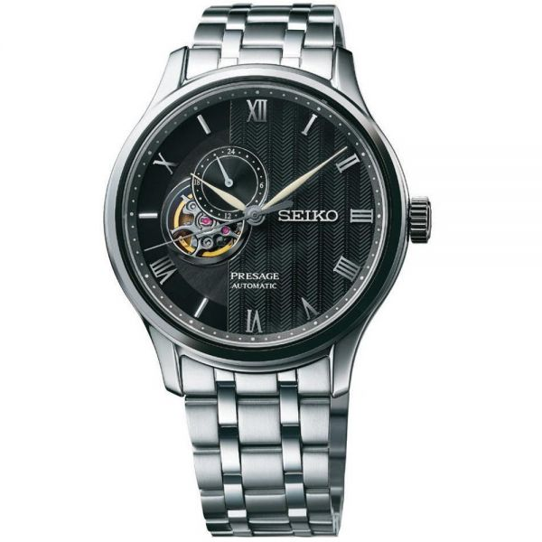 Seiko Black Open Heart Dial Presage Cocktail Automatic Watch