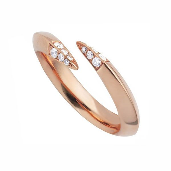 Shaun Leane Rose Gold Vermeil Diamond Wrap Ring