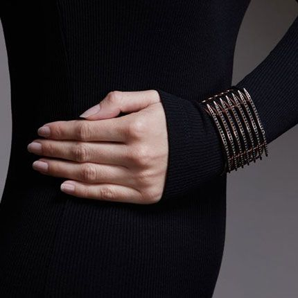 Shaun Leane Rose Gold Vermeil Quill Cuff with Black Spinel Gemstones