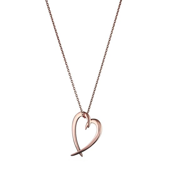 Shaun Leane Rose Gold Vermeil Signature Heart Necklace