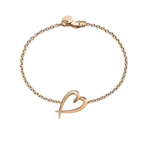 Shaun Leane Rose Gold Plated Signature Heart Bracelet