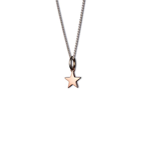 Steff Bloomsbury Rose Gold Plated Silver Mini Star Pendant