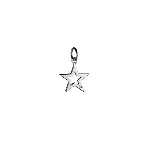 Steff Bloomsbury Silver & Diamond Star Charm