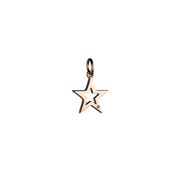 Steff Bloomsbury Rose Gold Plated Silver & Diamond Star Charm