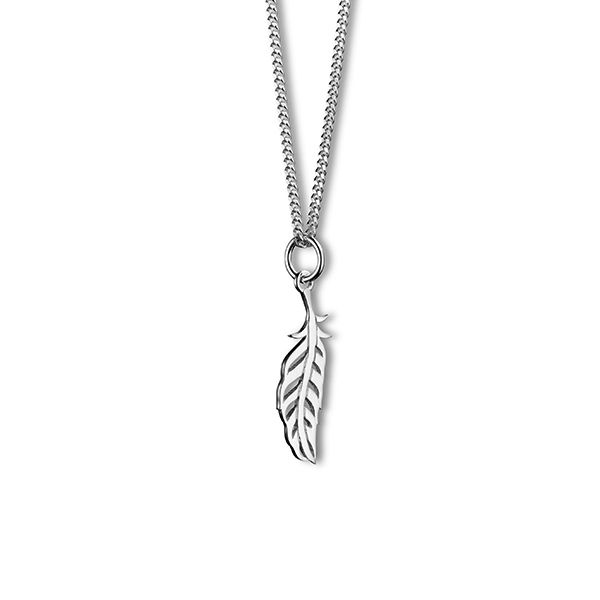 Steff Highgate Sterling Silver Mini Feather Pendant with Chain