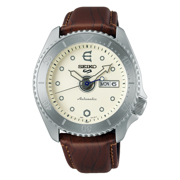 Seiko 5 Sports EVISEN Limited Edition Cream Watch