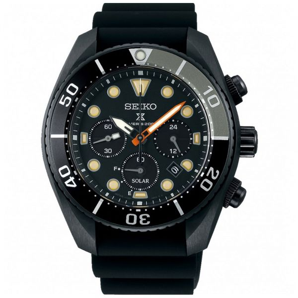 Seiko Prospex Black Series Limited Edition Solar Chronograph Sumo Watch