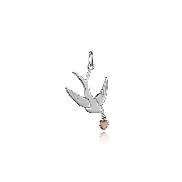 Steff Sterling Silver & Diamond Swallow Charm