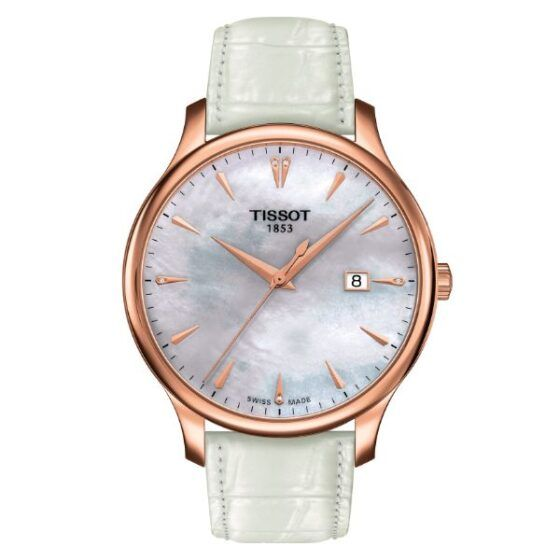 Tissot Tradition Mother of Pearl and Rose Gold Watch