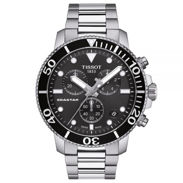 Tissot Black Dial Seastar 1000 Chronograph Watch