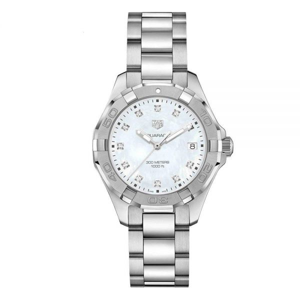 TAG Heuer Ladies Aquaracer Mother of Pearl Dial Diamond Dot Watch