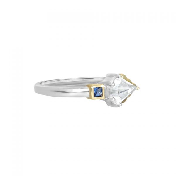 Laura Vann Thea Blue Gold Ring