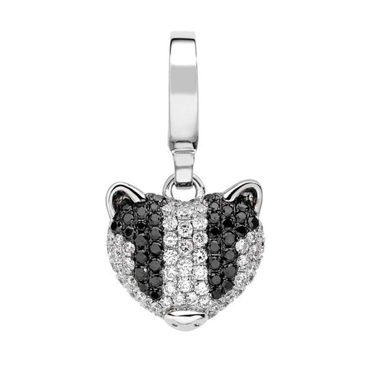 Theo Fennell White Gold & Diamond Badger 'Art Charm