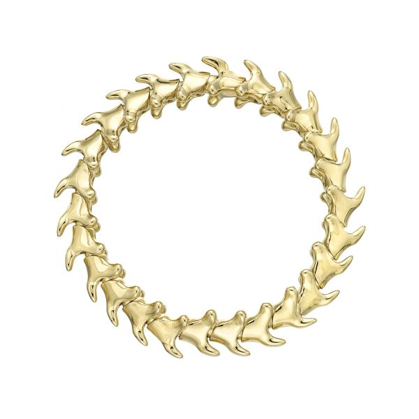 Shaun Leane Thick Yellow Gold Plated Serpent Bracelet