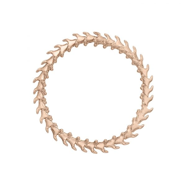 Shaun Leane Thin Rose Gold Plated Serpent Bracelet